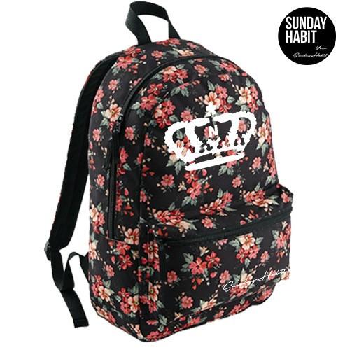 Crown Marble/Flowers backpack