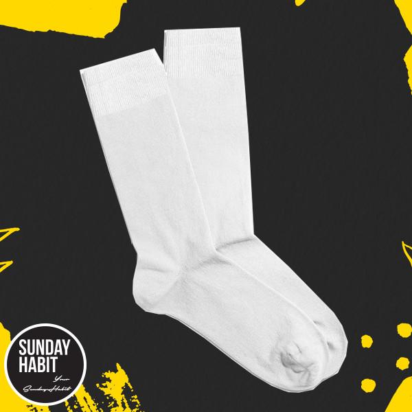 Бели памучни чорапи /34-40/
