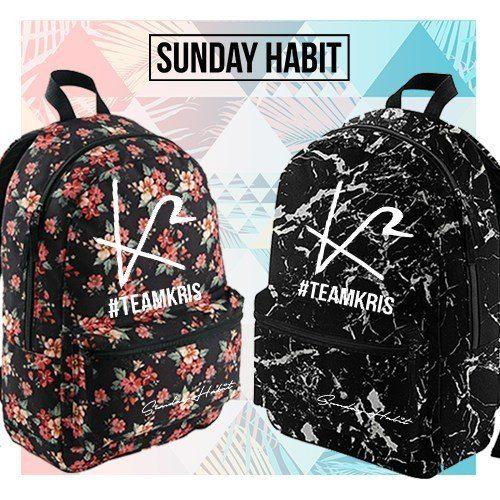 #TEAMKRIS Marble/Flowers backpack