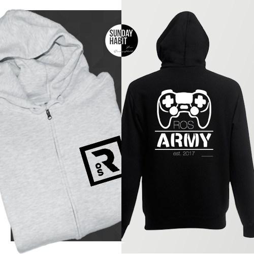ROS ARMY суичър с цип