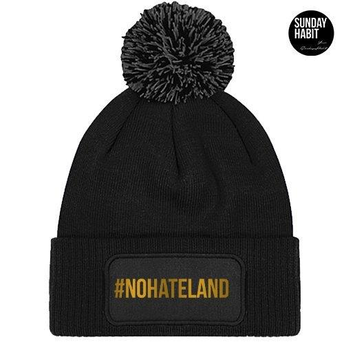 #NOHATELAND gold beanie