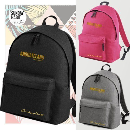 #NOHATELAND gold Backpack