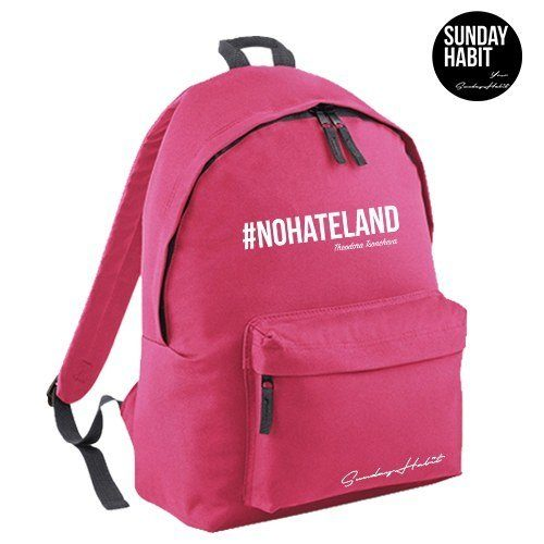 #NOHATELAND white Backpack