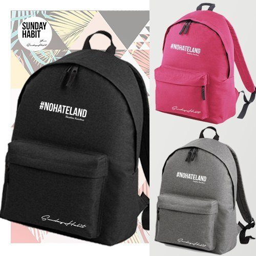 #NOHATELAND white Backpack