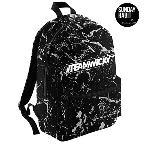 #TEAMWICKY Marble/Flowers backpack